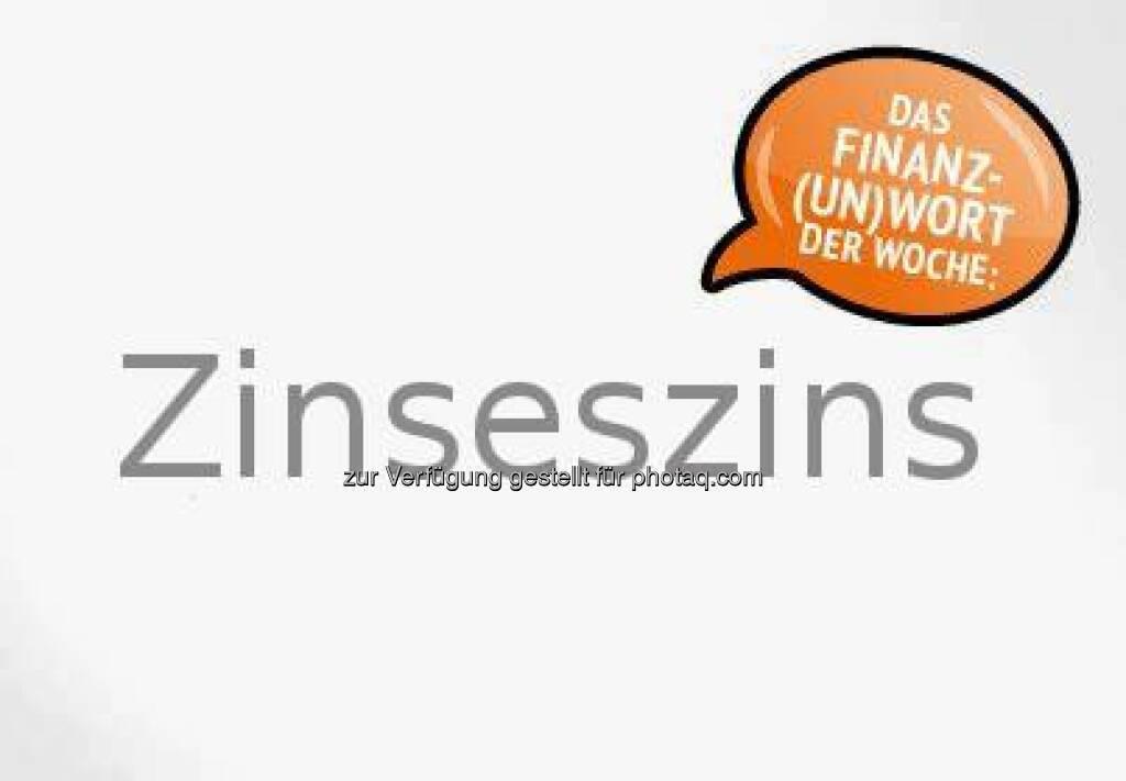 Unser Unwort der Woche ist ein richtiger Zungenbrecher: Zinseszins. Wenn man seine erwirtschafteten Zinsen am Sparbuch lässt und nicht behebt, dann werden diese wieder verzinst. Daraus ergibt sich dann der Zinseszins.  Source: http://twitter.com/GutmitGeld (25.04.2014)