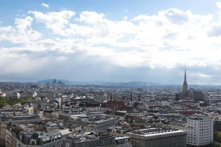 Wien, Stephandsdom, Blick vom Uniqa Tower
