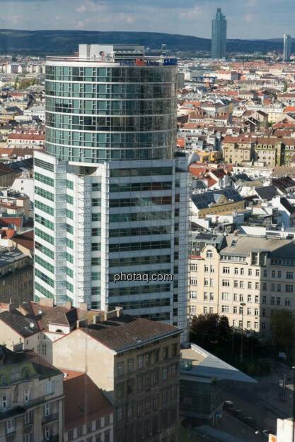 Wien, IngDiba, Blick vom Uniqa Tower, © finanzmarktfoto.at/Martina Draper (27.04.2014)