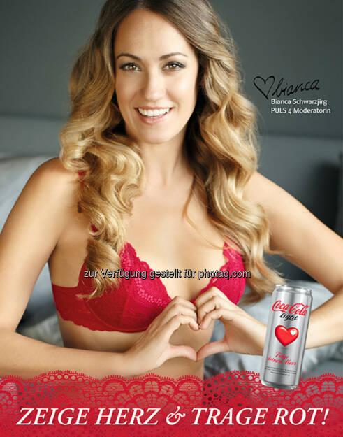 """Bianca Schwarzjirg (Puls4-Moderatorin) für Palmers, Coca-Cola light und """"Folge deinem Herz"""" (27.04.2014)"""