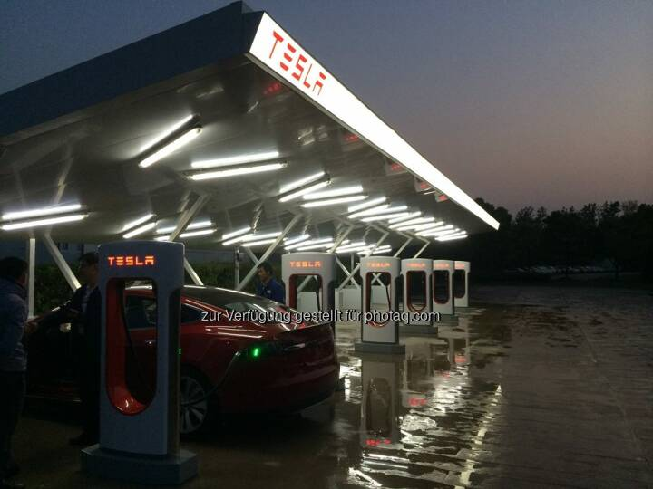 Tesla: China is charged! This week we switched on our first Superchargers in China.  Source: http://facebook.com/teslamotors