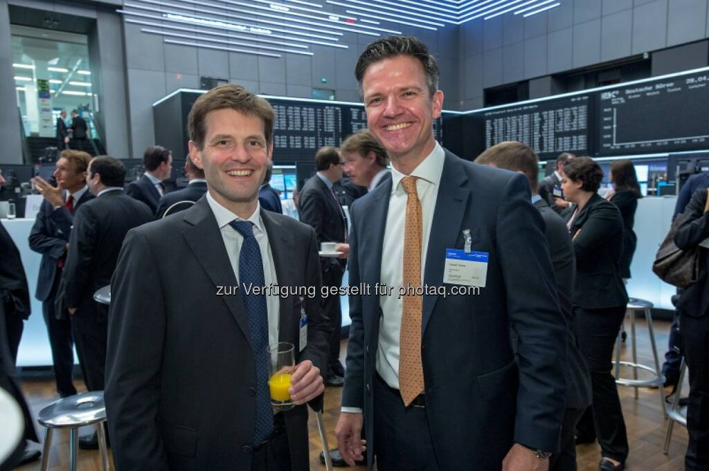 Thomas Zivny (CHSH), Thomas Geppelt (Baader Bank), © Immofinanz (29.04.2014)