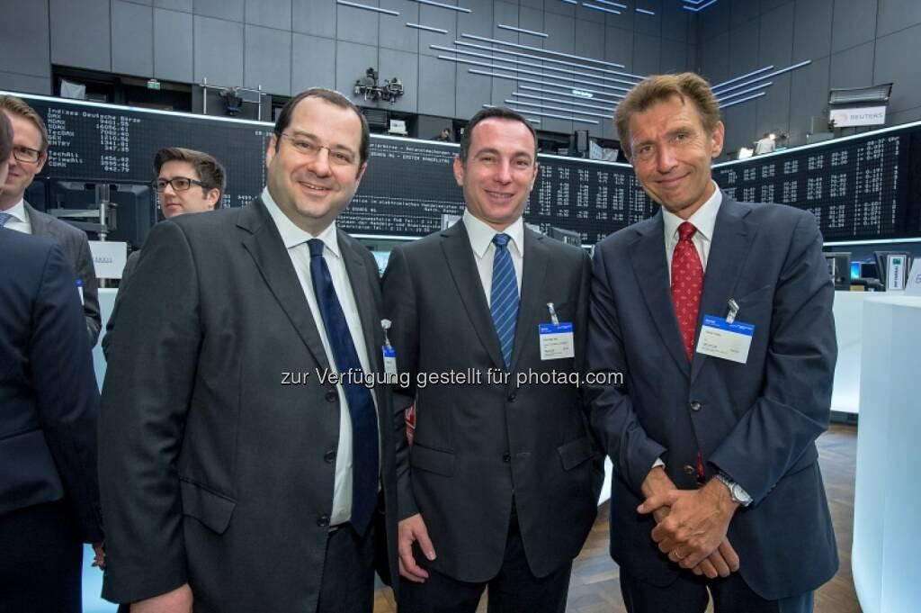 Daniel Riedl, Vitus Eckert, Volker Riebel (Buwog), © Immofinanz (29.04.2014)