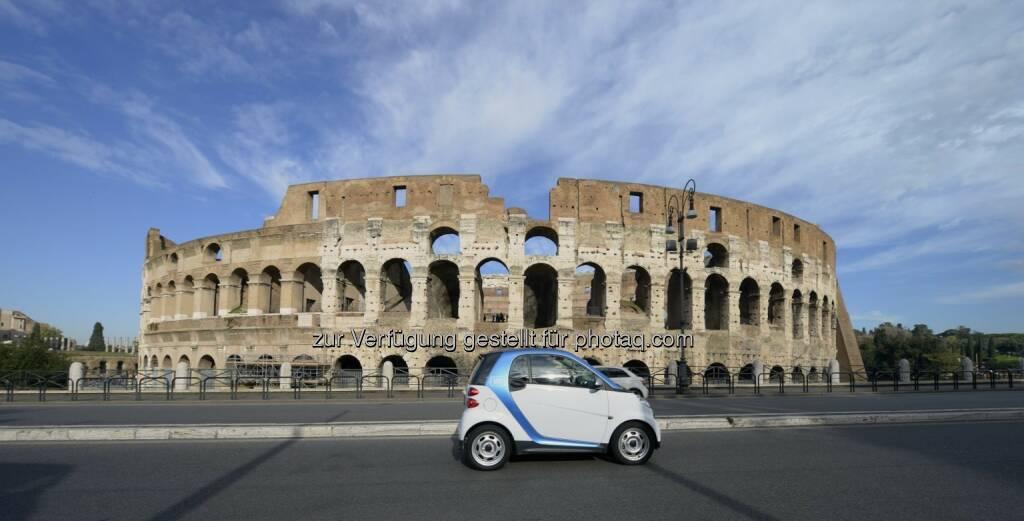 car2go, Rom Colosseum, © car2go (29.04.2014)