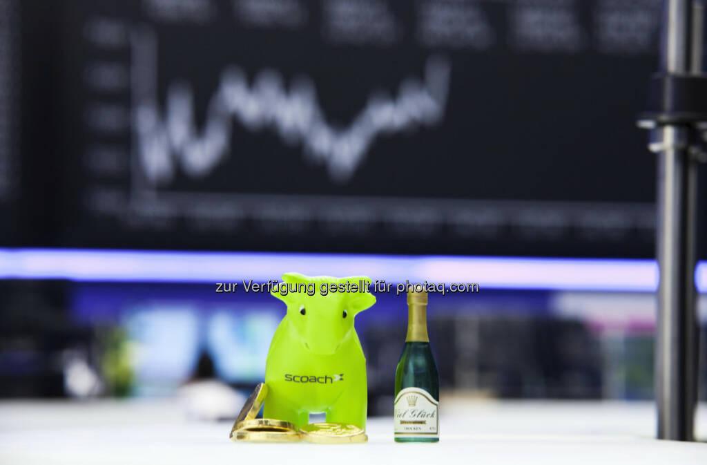 Scoachy, der Börsenbulle von Scoach, gratuliert im Namen von Scoach zum neuen Projekt.  Wir wünschen weiterhin viel Erfolg und dass sich alle von ihrer Schokoladenseite zeigen!  (21.12.2012)