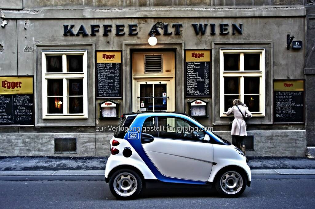 car2go, Wien Kaffee Alt Wien, © car2go (29.04.2014)