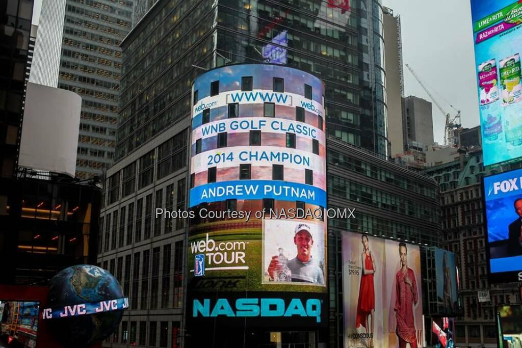 Congratulations to Andrew Putnam, winner of @WebDotComTour's 2014 WNB Golf Classic #WebTour  Source: http://facebook.com/NASDAQ (29.04.2014)
