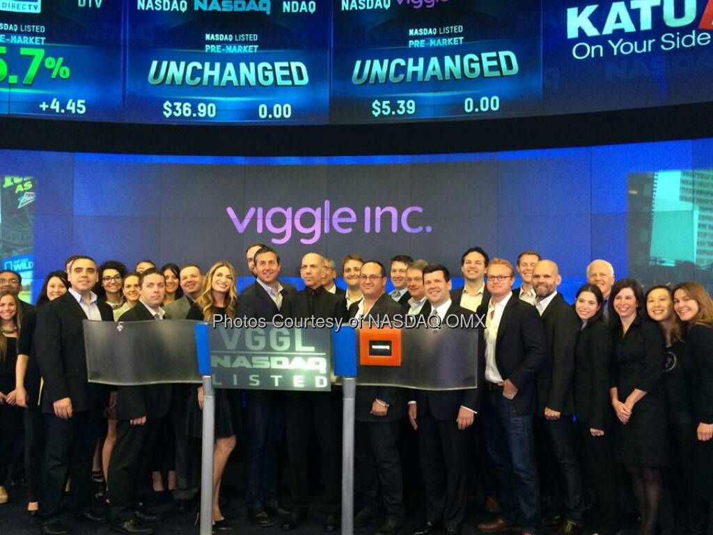 Viggle Inc rings the #NASDAQ #OpeningBell with Heather from #RHONY!   Source: http://facebook.com/NASDAQ (01.05.2014)