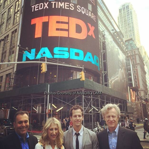 TEDxTimesSquare after Nasdaq closing bell! #tedx  Source: http://facebook.com/NASDAQ (03.05.2014)