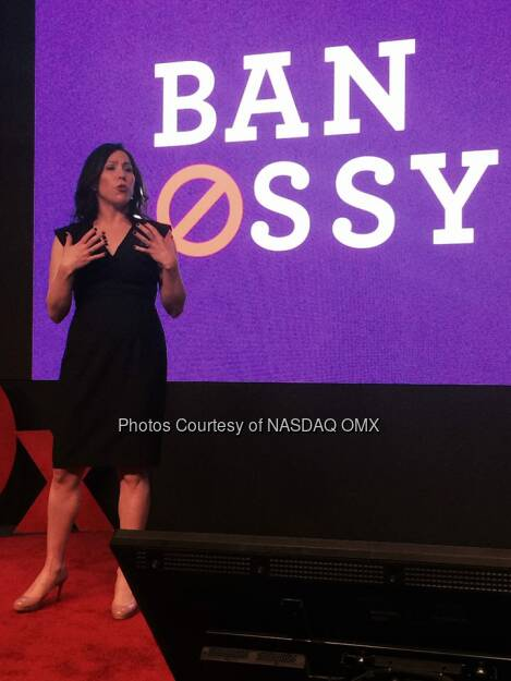 Kelly Parisi Chief Comms Executive of the TEDx  Source: http://facebook.com/NASDAQ (03.05.2014)