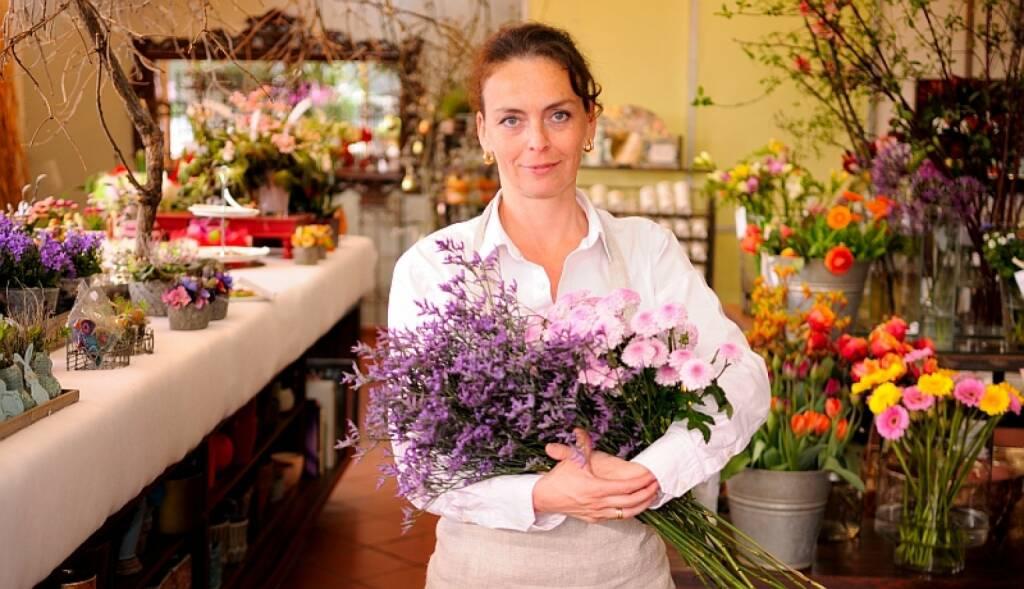Tina Schifko , http://www.meineblumen.at , nimmt Blumenabo-Bestellungen entgegen  (03.05.2014)