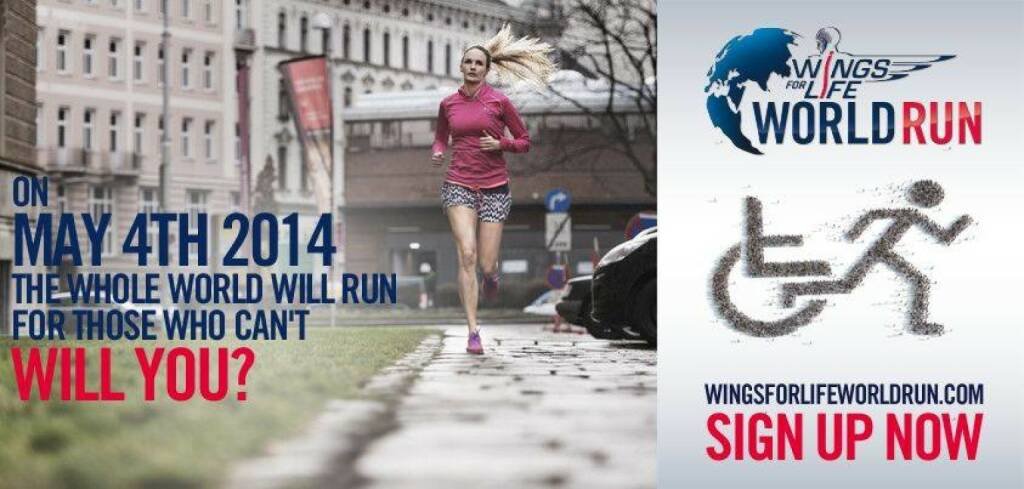 Patricia Wolf Wings for Life World Run, © Wings for Life World Run / Red Bull (04.05.2014)