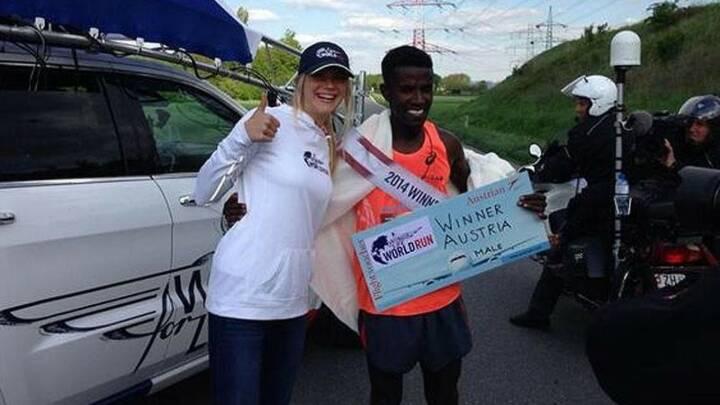 Sieger 2014: Lemawork Ketema (ETH) lief 78,57 Kilometer