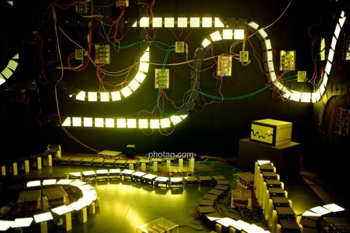 Strom, Stromkreis, gelb, Ars Electronica Center