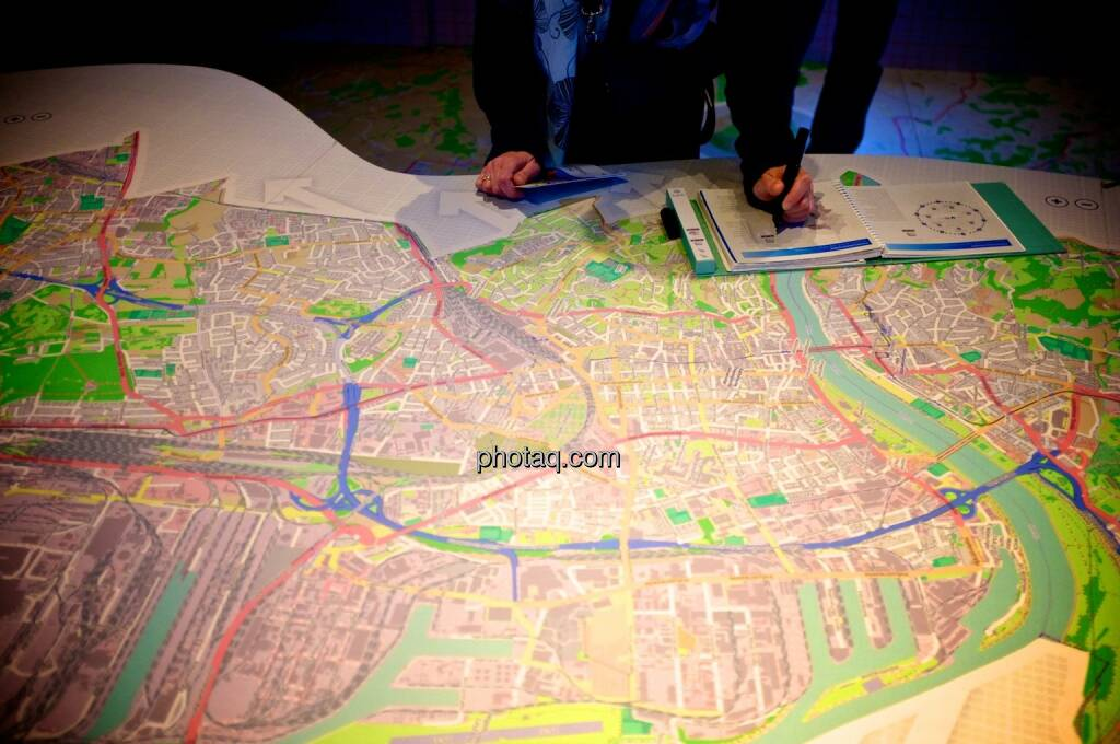 Stadtplan, Linz, Ars Electronica Center (05.05.2014)