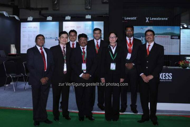 Lanxess bei dert Aquatech India 2014, New Delhi, on May 6 – 8, 2014. Source: http://facebook.com/LANXESS