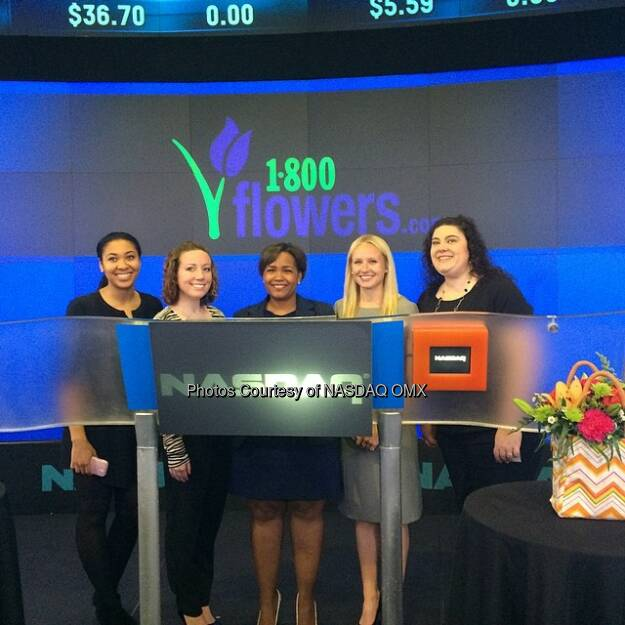 Podium pics before 1-800 FLOWERS.COM, Inc. Rings the OpeningBell Source: http://facebook.com/NASDAQ (06.05.2014)