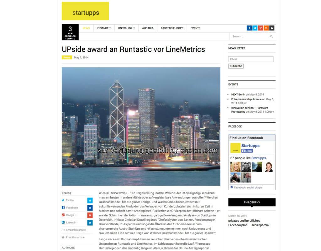 startupps.net zum UPside award http://www.startupps.net (06.05.2014)