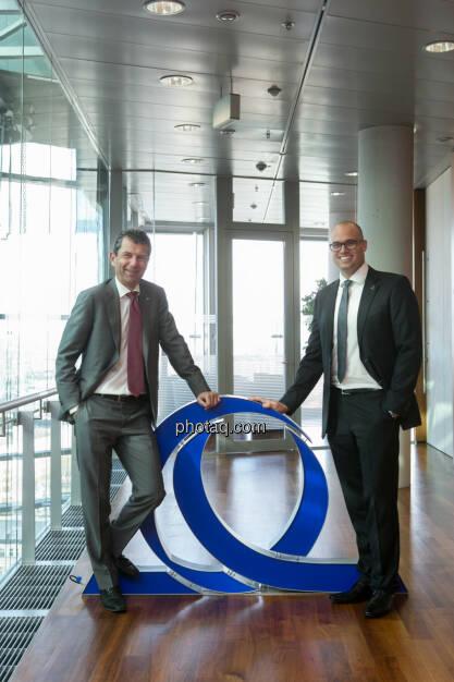 """Uniqa Medienschwerpunkt: Kurt Svoboda, CRO, und Renè Knapp, Chefaktuar, stellten im Rahmen eines Themenschwerpunkts im April den """"Embedded Value"""" vor (07.05.2014)"""