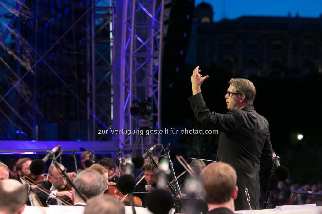 Dirigenten Bertrand de Billy, Fest der Freude 2014, © Martina Draper für Wiener Symphoniker (09.05.2014)