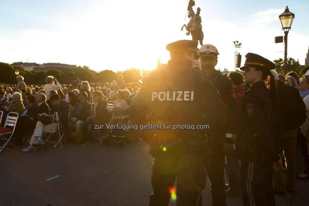 Polizei, Fest der Freude 2014, © Martina Draper für Wiener Symphoniker (09.05.2014)