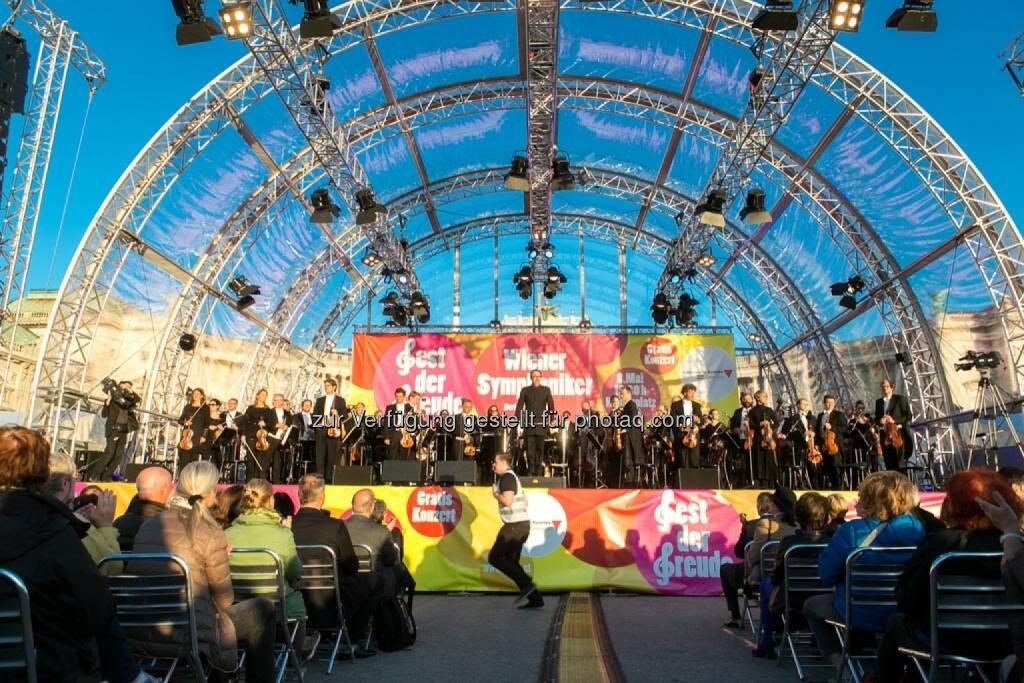 Blick auf die Bühne, Fest der Freude 2014, © Martina Draper für Wiener Symphoniker (09.05.2014)