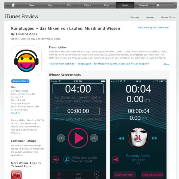 (WEB / APP) Download im iTunes-Store unter http://bit.ly/1lbuMA9  (10.05.2014)