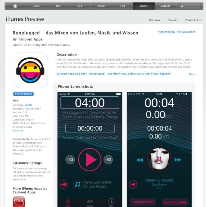 (WEB / APP) Download im iTunes-Store unter http://bit.ly/1lbuMA9