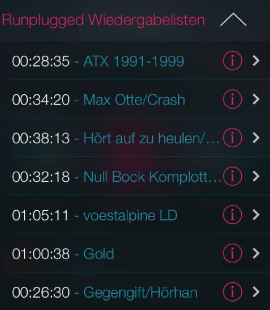 Ein Blick auf Runplugged Wiedergabelisten, die man hören kann, aber nicht muss  (10.05.2014)