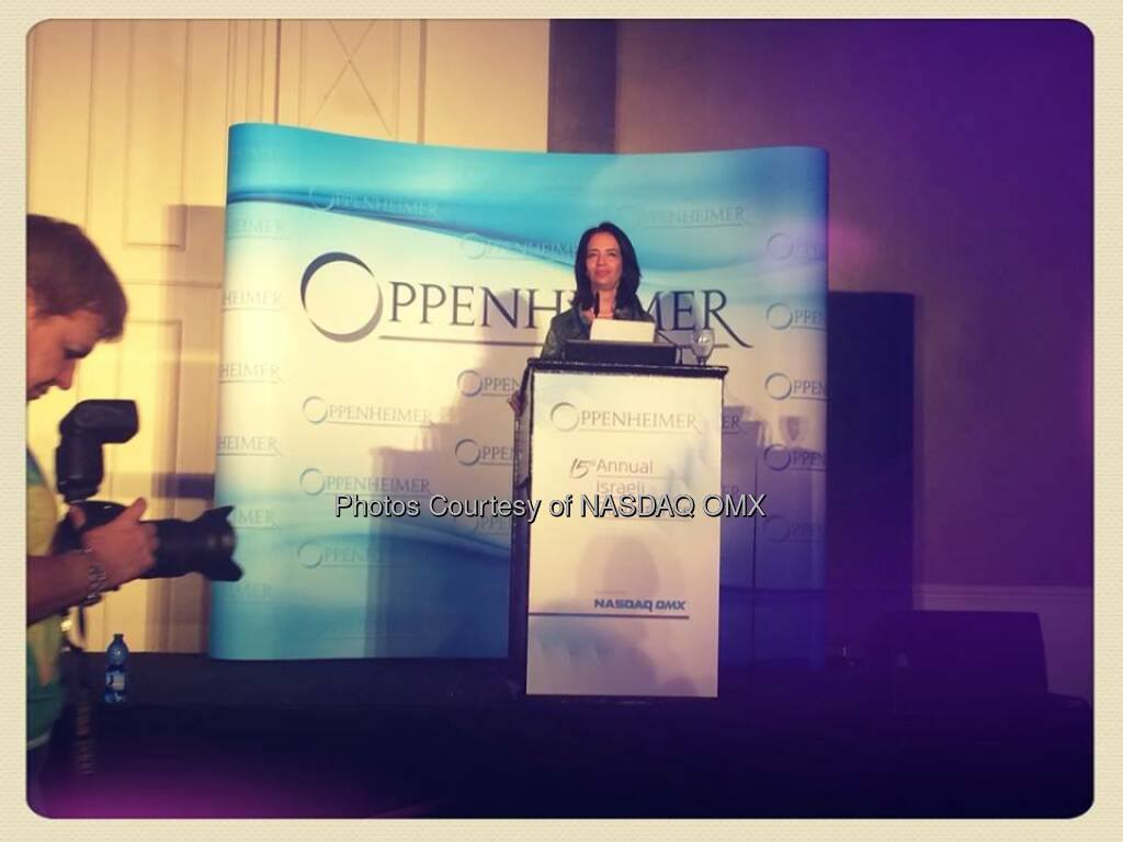 Starting the 15th Annual Oppenheimer Israeli Conference with Avivitt Mannet-Kalil! http://mob.li/_Mp6AK  Source: http://facebook.com/NASDAQ (11.05.2014)