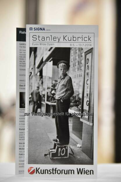 Plakat Stanley Kubrik Ausstellung, © leisure.at/Christian Jobst (11.05.2014)