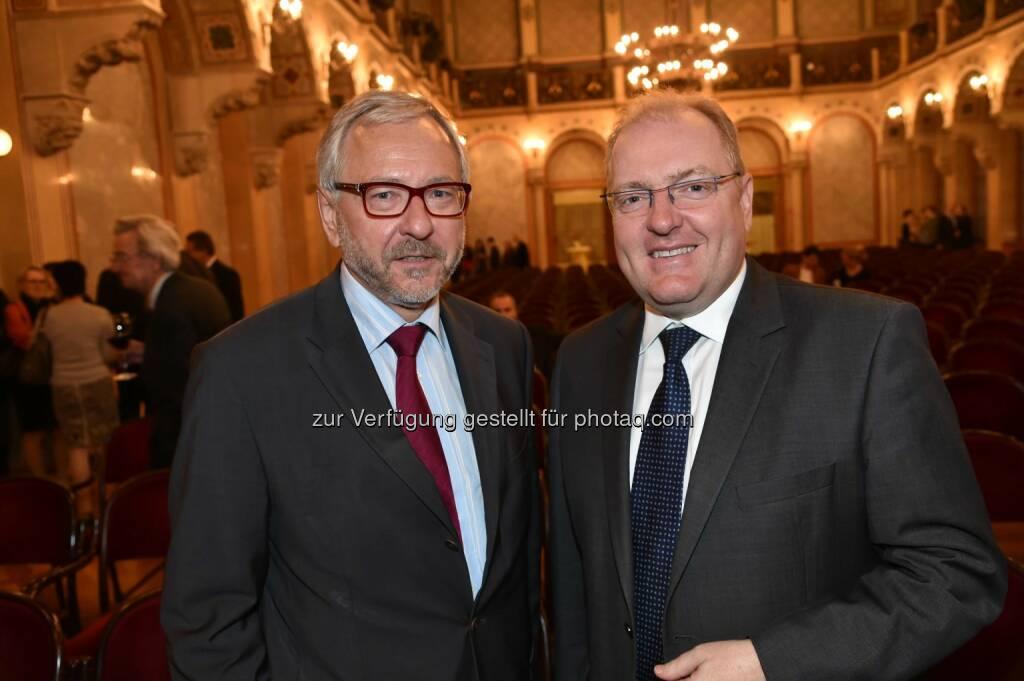SP-Politiker Rudi Schicker, Bank Austria-Vorstand Helmut Bernkopf, © leisure.at/Christian Jobst (11.05.2014)