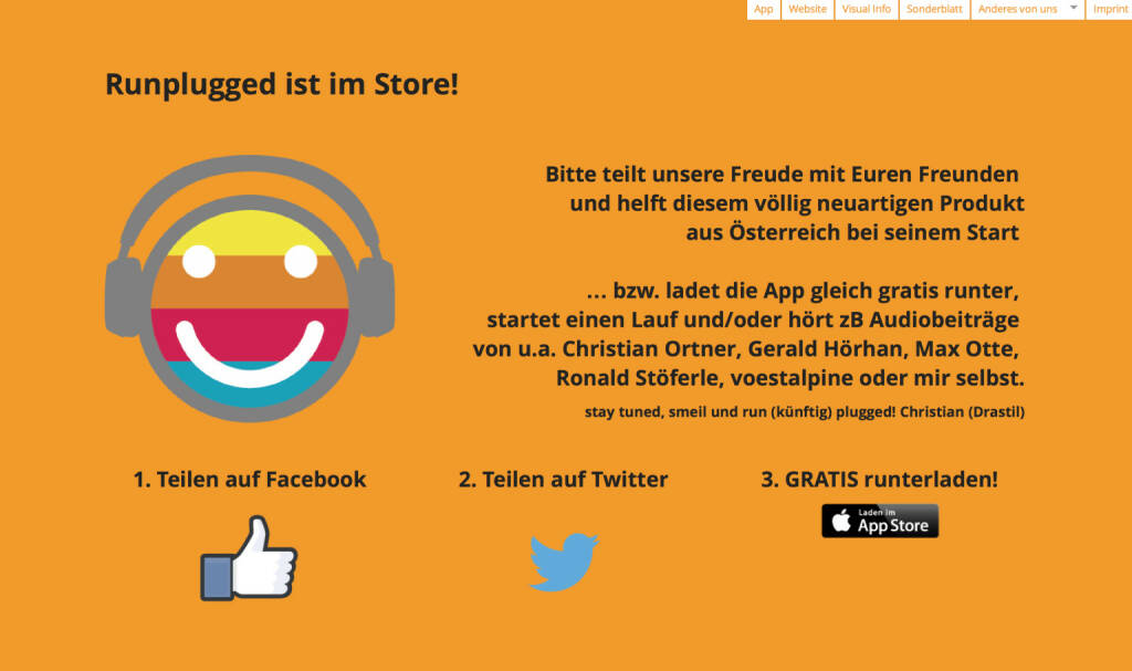 Runplugged bitte weitersagen http://runplugged.com/spreadit (11.05.2014)