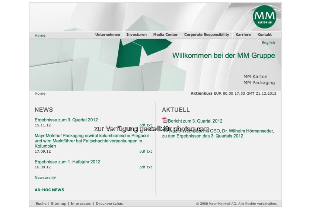 Mayr-Melnhof Homepage http://www.mayr-melnhof.com/ (23.12.2012)