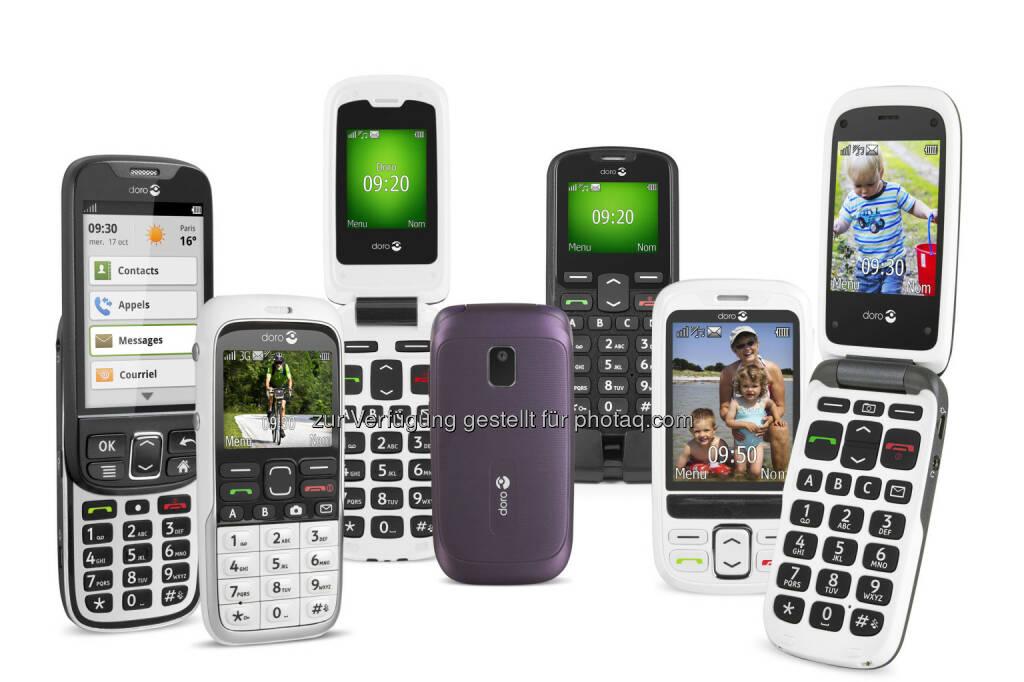 Ingram Micro, global und auch in Österreich größter IKT Distributor, schließt mit Doro, dem weltweiten Marktführer für Handys für die ältere Generation, einen Distributionsvertrag ab und erweitert damit sein Portfolio im Mobility Bereich. (Bild: Doro) (14.05.2014)