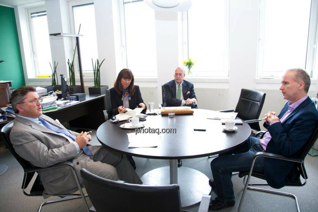 Karl-Heinz Strauss, Porr AG, Gabriele Al-Wazzan, Porr AG, Manfred Waldenmair, bepublic, Christian Drastil, © finanzmarktfoto.at/Michi Mejta (14.05.2014)