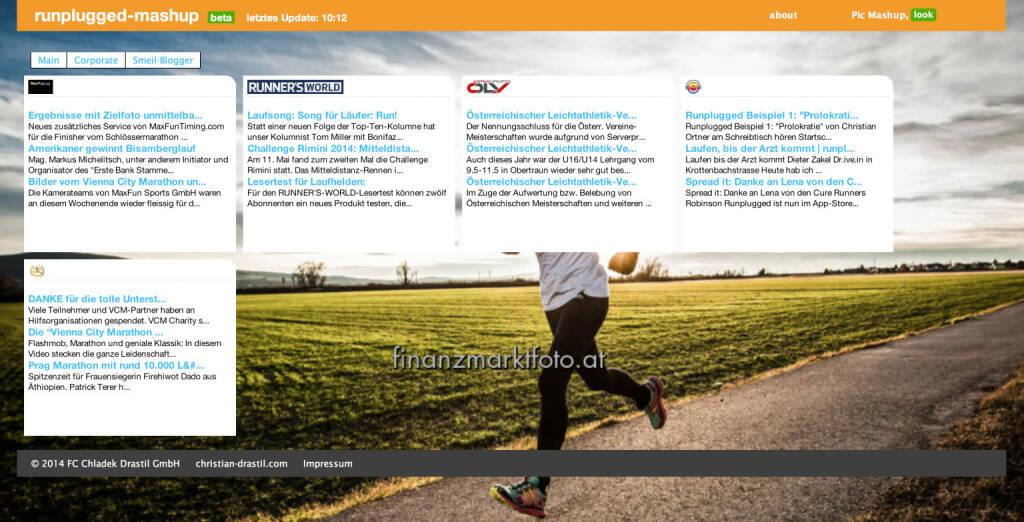 Neu seit 14.5: http://finanzmarktmashup.at/mashup/runplugged . RSS-Feeds aus dem Laufsportbereich willkommen (14.05.2014)