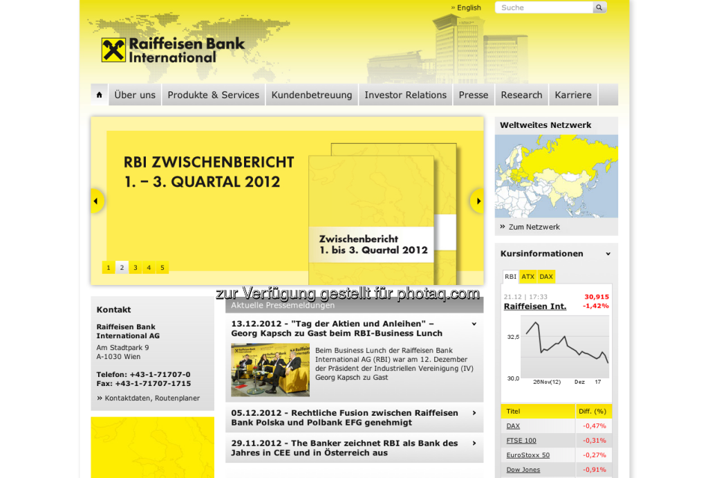RBI Homepage http://www.rbinternational.com (23.12.2012)