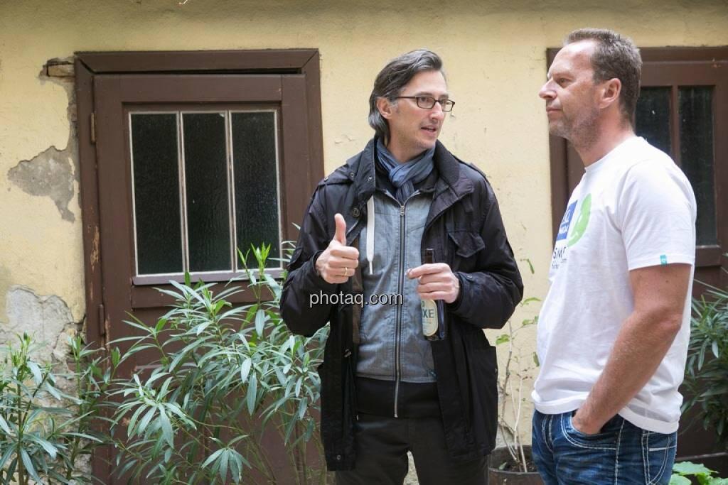 Josef Chladek, Oliver Olbrich (Olbrich Media und Immobilien), © finanzmarktfoto.at/Martina Draper (15.05.2014)