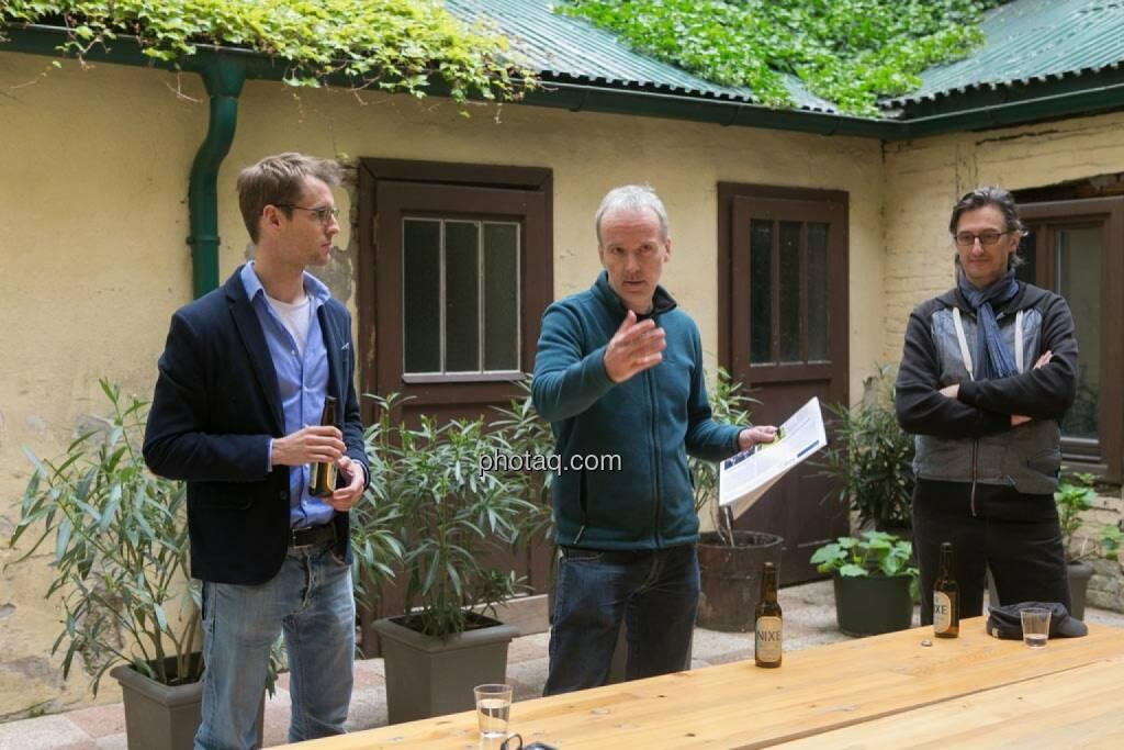 Constantin Simon (Nixe), Christian Drastil, Josef Chladek, © finanzmarktfoto.at/Martina Draper (15.05.2014)
