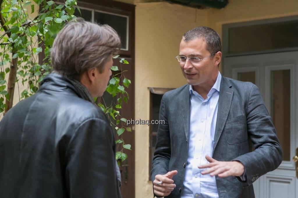 Robert Gillinger (Börse Express), Wolfgang Siegl-Cachedenier (startupps.net), © finanzmarktfoto.at/Martina Draper (15.05.2014)
