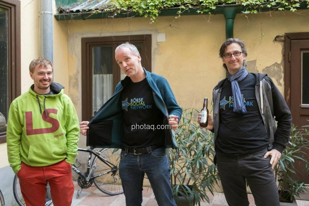 Thomas Hapala (wikifolio), Christian Drastil, Josef Chladek, © finanzmarktfoto.at/Martina Draper (15.05.2014)