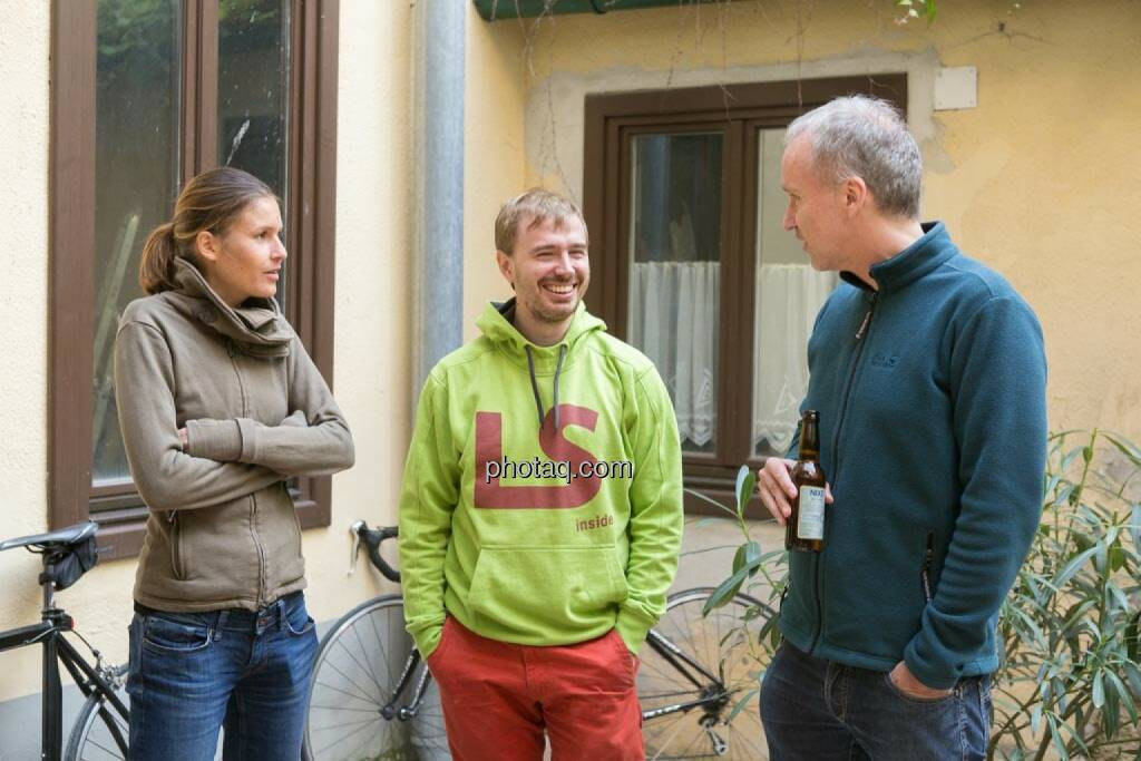 Christina Oehler (wikifolio), Thomas Hapala (wikifolio), Christian Drastil, © finanzmarktfoto.at/Martina Draper (15.05.2014)
