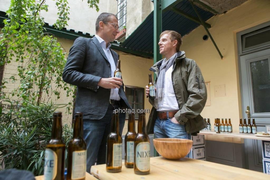 Wolfgang Siegl-Cachedenier (startupps.net), Christian-Hendrik Knappe (Deutsche Bank), © finanzmarktfoto.at/Martina Draper (15.05.2014)