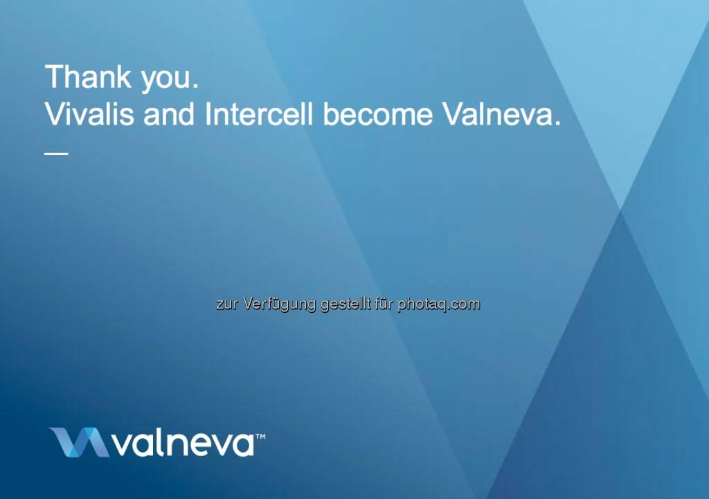 Valneva: Das Logo der Firma, die aus Vivalis und Intercell entstehen wird (c) Valneva (24.12.2012)