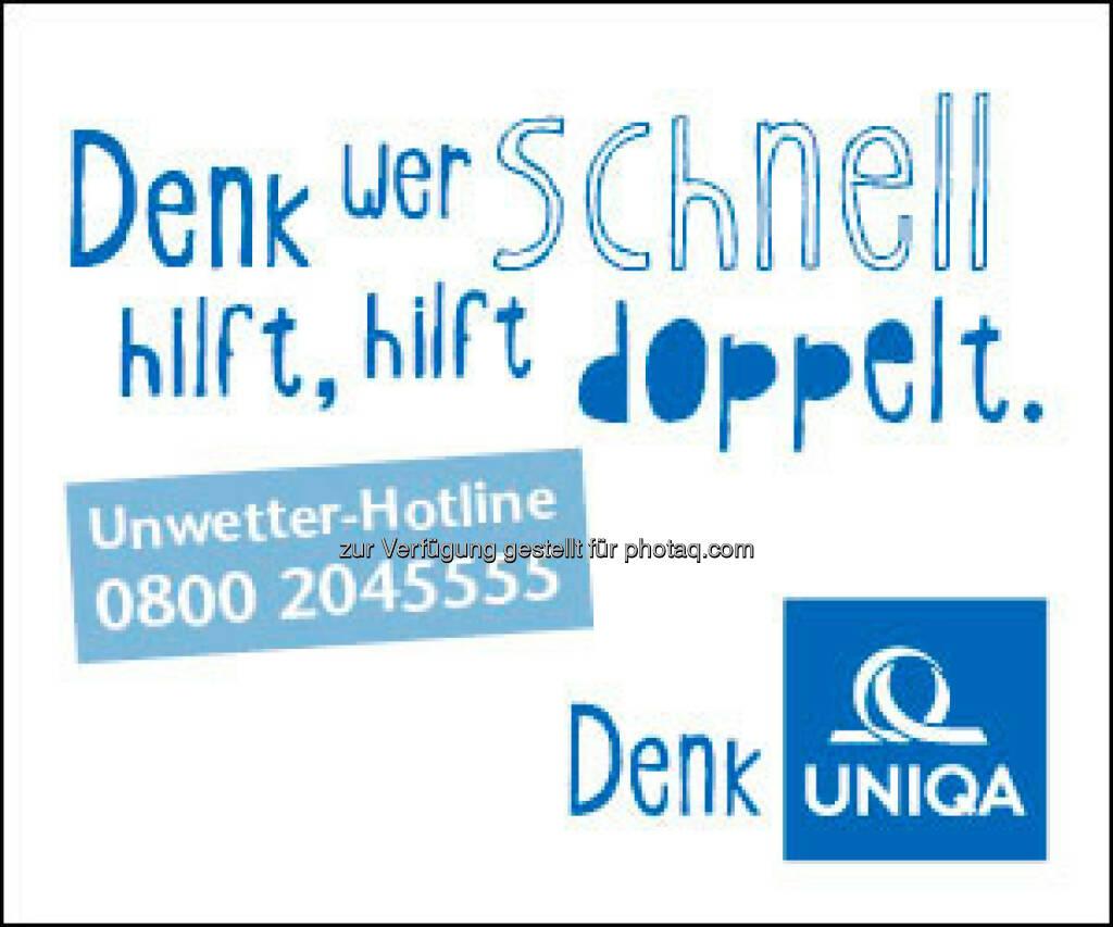 Sturmwarnungen in Österreich. Uniqa hat eine Sturm-Guide erstellt, in dem die wichtigsten Fragen betreffend der Schadensregulierung beantwortet werden und der dabei hilft, zumindest die finanziellen Sorgen wieder rasch in den Griff zu bekommen. (Bild: Uniqa) (15.05.2014)