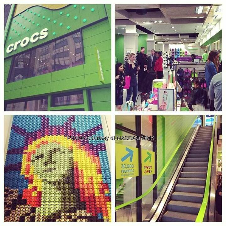 Love the @crocs mosaic of the Statue of Liberty at the new store in NYC on 34th Street! #crocsnyc #findyourfun #grandopening @crocs $CROX  Source: http://facebook.com/NASDAQ