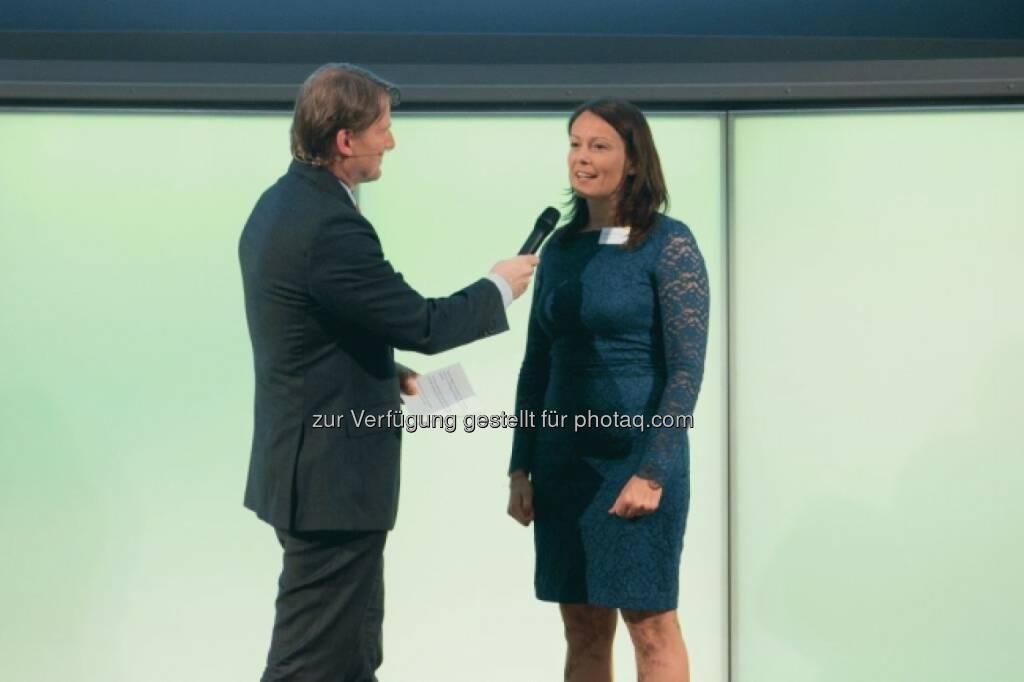 Lars Brandau (DDC), Beatrix Schlaffer (Brokerjet), © Martina Draper für Börse Express (16.05.2014)