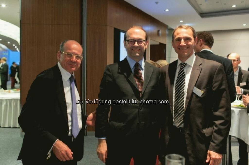 Michael Spiss (RCB), Johannes Schuster (RZB), Stefan Dörfler (Erste), © Martina Draper für Börse Express (16.05.2014)