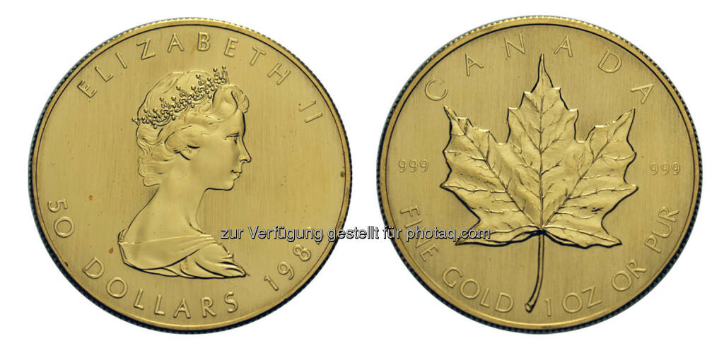 50 Dollar Maple Leaf, Kanada, Ottawa, 1982, Gold (18.05.2014)